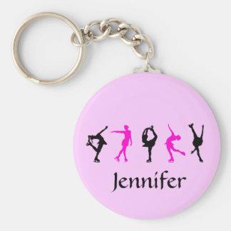 Porte-clés Filles de patineur artistique et porte - clé nommé