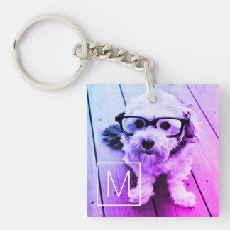 Porte-clés Filtre AUTOMATIQUE de votre photo et monogramme -