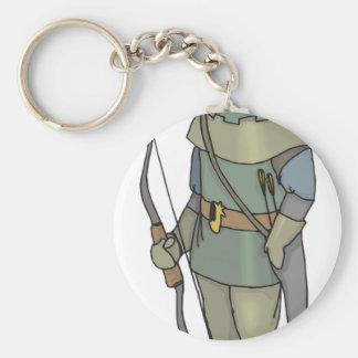 Porte-clés Flèche d'arc d'homme d'Archer d'imaginaire