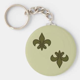 Porte-clés Fleur de Lis Keychain