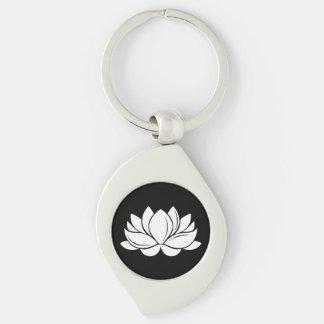 Porte-clés Fleur de Lotus blanc
