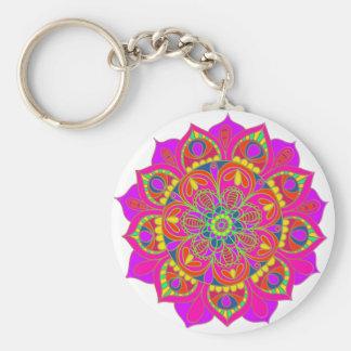 Porte-clés Fleur de mandala de roses indien