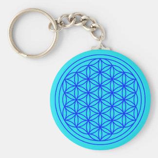 Porte-clés Fleur de porte - clé de mandala de la vie