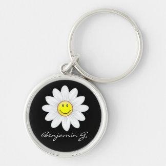 Porte-clés Fleur de sourire de marguerite