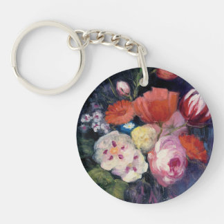 Porte-clés Fleur fraîche de ressort de coupe