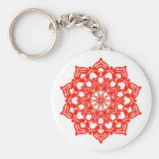 Porte-clés Fleur Mandala Chakra rouge
