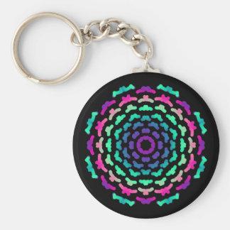 Porte-clés Fleur Mandala Psychédélique