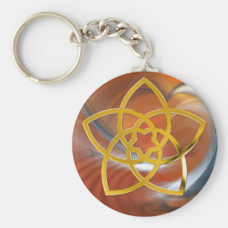 Porte-clés Fleur/OR de Vénus de symbole