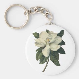 Porte-clés Fleurs blanches de floraison de fleur de magnolia