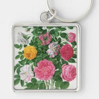 Porte-clés Fleurs de floraison de cru, roses de jardin de