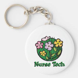 Porte-clés Fleurs de technologie d'infirmière