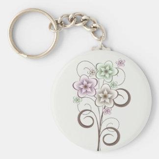 Porte-clés Fleurs et porte - clé de boucles
