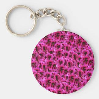 Porte-clés Fleurs magenta chaudes de géranium,
