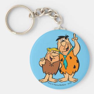 Porte-clés Flintstone de blocaille et de Fred de prise de bec