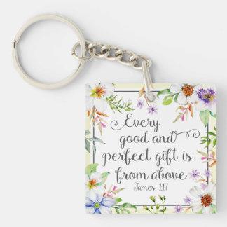 Porte-clés Floral blanc chaque bon et parfait cadeau