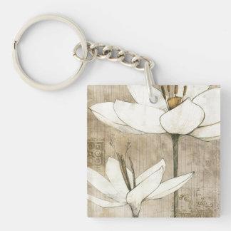 Porte-clés Floral dessiné par le crayon
