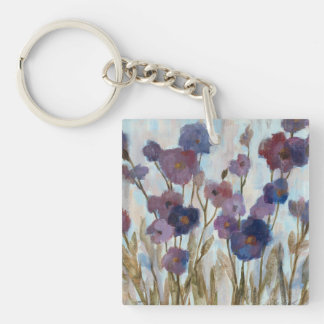 Porte-clés Floral soustrait dans le pourpre