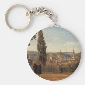 Porte-clés Florence, les jardins de Boboli par Camille Corot