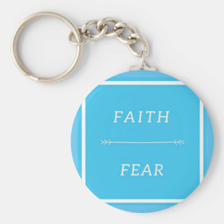 Porte-clés Foi au-dessus de porte - clé de crainte