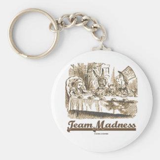 Porte-clés Folie d'équipe (humour fol de thé du pays des