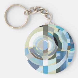 Porte-clés Formes géométriques d'art déco de jazz vintage de