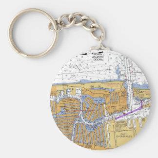 Porte-clés Fort Lauderdale, porte - clé nautique de diagramme