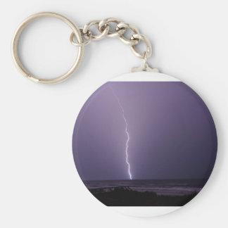 Porte-clés Foudre sur l'océan