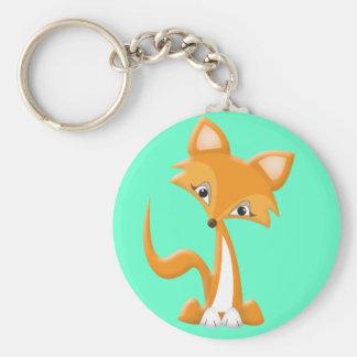Porte-clés Fox rusé de bande dessinée