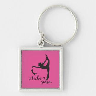 Porte-clés Frappez un yoga de ~ de pose et un créatif inspiré