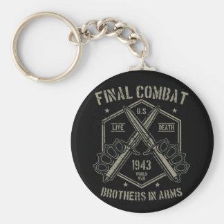 Porte-clés Frères d'armes finaux de combat la guerre mondiale
