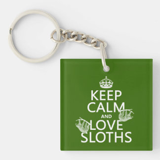 Porte-clés Gardez le calme et aimez les paresses (toute