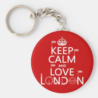 Porte-clés Gardez le calme et aimez Londres
