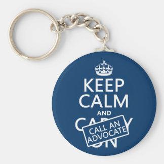Porte-clés Gardez le calme et appelez un avocat (dans toute