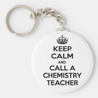 Porte-clés Gardez le calme et appelez un professeur de chimie