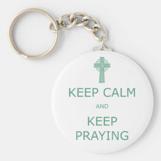 Porte-clés Gardez le calme et continuez la prière