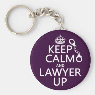 Porte-clés Gardez le calme et l'avocat (toute couleur)