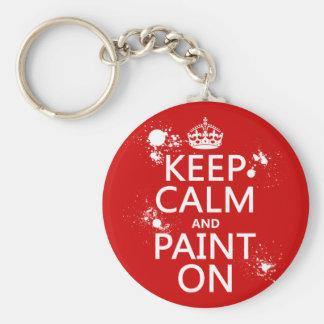 Porte-clés Gardez le calme et le peignez sur (dans toutes les