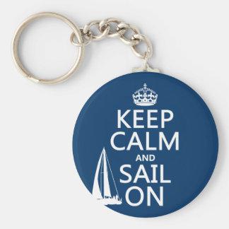 Porte-clés Gardez le calme et naviguez dessus - toutes les
