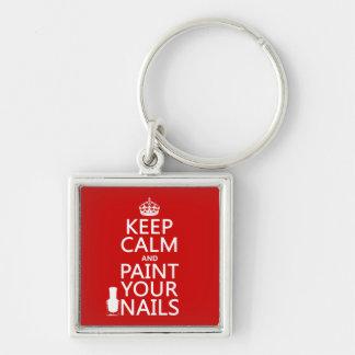 Porte-clés Gardez le calme et peignez vos clous (toutes les