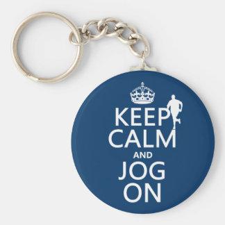 Porte-clés Gardez le calme et pulsez dessus