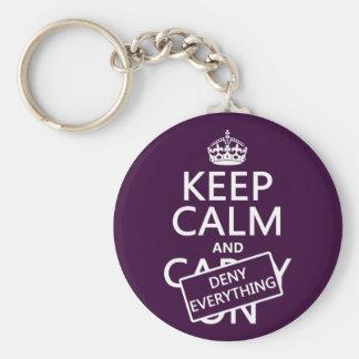 Porte-clés Gardez le calme et refusez à tout - toutes les