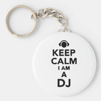 Porte-clés Gardez le calme que je suis le DJ