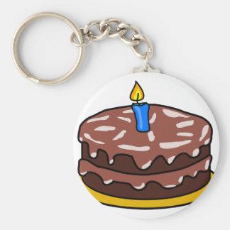 Porte-clés Gâteau d'anniversaire de chocolat