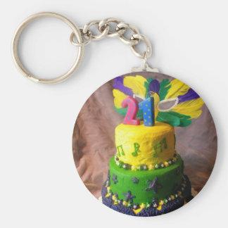 Porte-clés Gâteau de 21 mardi gras