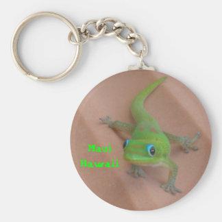 Porte-clés Gecko de jour de la poussière d'or
