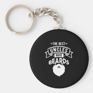 Porte-clés Gentil les meilleurs oncles ont la copie de barbes