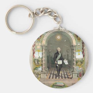 Porte-clés George Washington en tant que franc-maçon