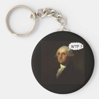 Porte-clés George Washington tournant dans sa tombe drôle
