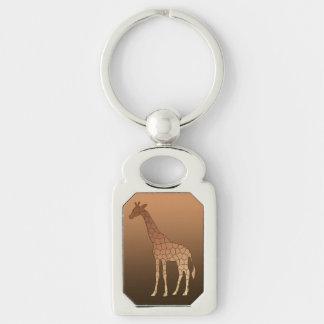 Porte-clés Girafe, cuivre et Brown géométriques modernes