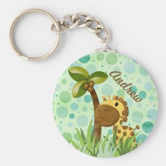 Porte-clés Girafe de point de polka